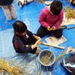 のらっこくらぶ「ふゆみずたんぼで稲わらクラフト&新米を食べよう!
