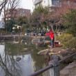 2018.01.31 中野区 新井薬師公園ひょうたん池: 厳冬の釣り人と観衆