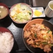 弥刀のお好み焼「さゝや」で、豚キムチ定食。