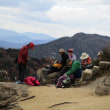 ㉘ 黒滝山~白滝山縦走登山 : 昼食   UP7日目