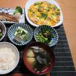 ニラ玉とニシンとひじきの煮物・炊屋食堂の栄養メニュ~・・・残暑、