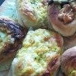 [小樽]今日のランチ·嫁が作った米粉の惣菜パンです。