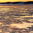 厚岸湾の夕焼け
