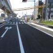 台風の翌日は、松山外環状道路空港線側道部の開通