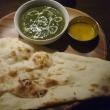 インドネパール料理 タルカリのほうれん草カレーセット ~ハーフ ナンのお替り~