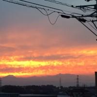 朝日と夕日。