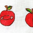 リンゴのししゅう