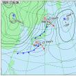 11月18日 アメダスと天気図。