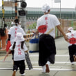 住吉大社・夏祭り神輿渡御の大和川。(大阪府)  17・8月1日