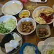 ごぼう餃子の晩御飯