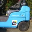 【くまモンのフォークリフト】についてのご紹介と、引き続き特A指定の中古車整備の様子と、年次点検の修正塗装