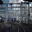 輝く青い列車