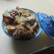 適当豚生姜焼き&餃子丼