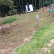 除草作業が大変でコンクリートを打ち込む 茨城 守谷