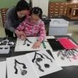 3月の墨絵教室
