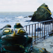 ○三重県  夫婦岩    伊勢神宮の鯉