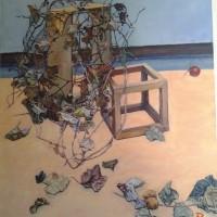 作品展に3品出展(Ⅲ)・・・・木枠と枯れ草