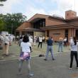武庫川女子大学と豊能町、健康まちづくりで女学生と歩きました。