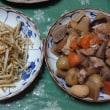 里芋ご飯と母からの差し入れお総菜