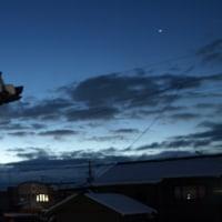 日の出前の木星