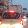 先月の雪の通勤と今月の雪