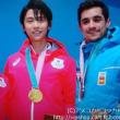 祝金メダル 冬季オリンピック コッカー イラスト ピコピコ画