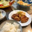 8/19の夕飯鶏のガーリックソテーとコールスロー