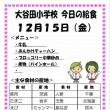 今日(12/15金)の給食