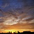 日の出の最中