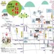 甲府山の手七福神パンフ、台紙、A3マップ