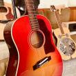 かみさん久々の日曜日お休みで・・・ライブの練習 Gibson Talyor リゾネーターギター カホン