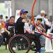 狙い定めて シュッ フライングディスク 県障害者スポーツ大会