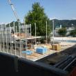 仮設校舎建設進む 3