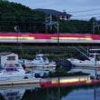 黄昏の船溜まり風景 (賢島夕陽が丘)