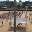 ラジオ体操の練習
