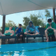 イ・ジョンソク プールで ☀️