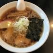 麺辰(22)の中華そば(8)(麺半分)・480円+背脂(無料)☆
