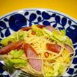 ☆ウインナーと春キャベツのスパゲティ&グラタン☆