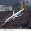 トラブゾン空港で飛行機がスリップ、滑走路をはずれた