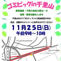 ゴミピック 11月25日(日)晴れ