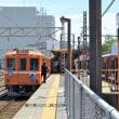 養老鉄道 大垣(2018.5.12) モ625、ク506 行先系統板取付け車両並び