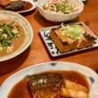 鯖の味噌煮と煮びたしの夜ごはん