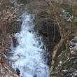 全面結氷した滝