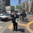 五月晴れの札幌市内で街頭演説。通常国会における公明党の取り組みについて国政報告をさせていただきました。