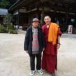 昨日は東京から来た従姉妹とチベット仏教のお寺と三滝へ~~