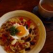 朝食 残りの味噌玉パスタ