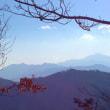 山の景色。