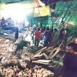 カンボジアのシェムリアップで、日曜日に建物の一部が崩壊した。