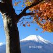 山中湖と富士山と紅葉