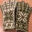 リクエスト手袋6組目と奈良旅行中に編んだ手袋完成